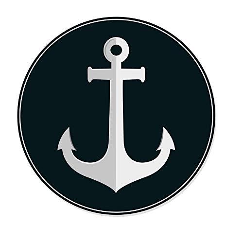 EXPRESS-HERO Anker Aufkleber Anchor Sticker für Auto & Boot Maritim Meer Segeln Sticker Decal 9,5 x 9,5 cm