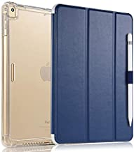 Valkit iPad Air (3rd Gen) 10.5'' 2019 / iPad Pro 10.5'' 2017 Case, Smart Folio Stand Protective Translucent Frosted Back Cover for Apple iPad Air 3 10.5 Inch 2019[Auto Sleep/Wake], Navy Blue