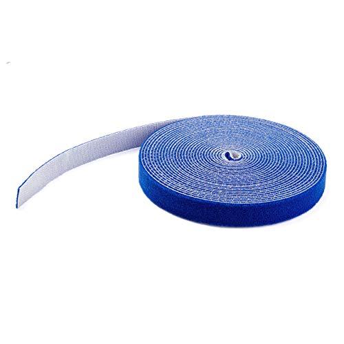 StarTech.com HKLP25BL Klettkabelbinder (7,6m, frei zuschneidbar & wiederverwendbar) blau