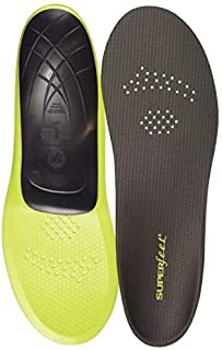 Superfeet CARBON, Thin and Strong Insoles for Pain Relief in Performance Athletic and Tight Casual Shoes, Unisex, Gray