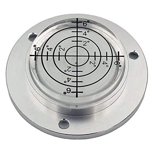 Mini-Wasserwaage, Dosenlibelle mit Metallsockel, Für einfaches Nivellieren z.B. Wohnmobil Ø = 49mm