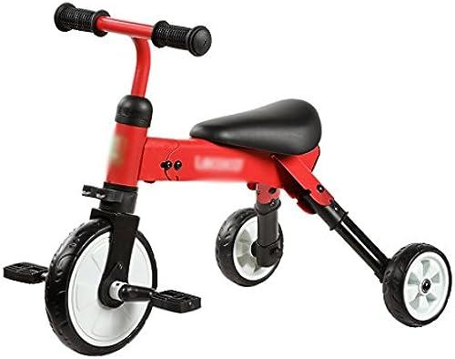 Kinder Dreirad 3-6 Jahre Alt Baby Folding Jungkinder Fahrrad (Farbe   Rot)