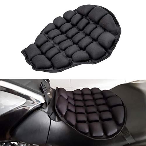 CICMOD Cojín de Asiento Aire Inflable, Almohadilla de Asiento de Moto de Alivio Presión Universial Negro