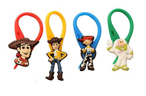 AVIRGO 4 pezzi Colorato Soft Zipper Pull Pendaglio di Zaino di Giacca Set # 109 - 4
