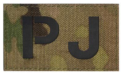 PJ Infrared Reflective Pararescue Jumper Tactical Embroidery Patch Hook & Loop Morale Patch Military Patch for Clothing Accessory Backpack Armband