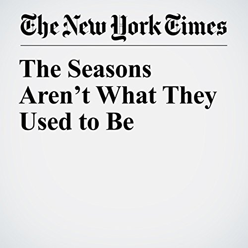 The Seasons Aren't What They Used to Be copertina