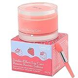 Crema hidratante para labios, mascarilla reparadora nutritiva para labios, mascarilla para el cuidado de los labios para dormir para labios secos, mascarilla exfoliante para labios(fresa)