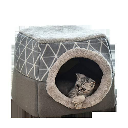 Kobay Hundebett HundehüTte KatzenhöHle Katzenhaus, Indoor Waschbares Haustierhaus - Vier Jahreszeiten Universal Abnehmbar