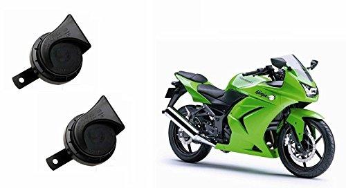 Roots Wind Tone Skoda Type Bike Horn (Set of 2)-Kawasaki Ninja 250