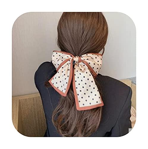 Ribbons Moda perro letras bandas para el pelo para las mujeres seda bufanda lazos para el pelo niñas diademas trenza cinta bolsa vendaje pelo accesorio círculo punto caqui
