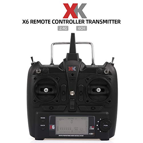 Leeofty XK X6 2.4G 6CH transmisor de Control Remoto para RC helicóptero K100 K110 K120 K123 K124 K130