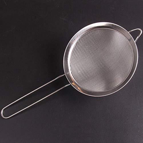 TTYAC Fil d'acier Inoxydable Filet à l'huile Fine de Haute qualité Farine Tamis Tamis passoires Outils de Cuisine Bricolage, 7 cm, France