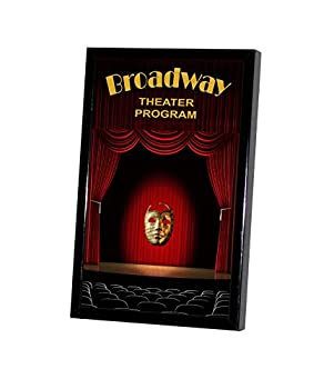 National Frames 5 3/8 X 8 1/2 Broadway Playbill Frame Collector Series  Black
