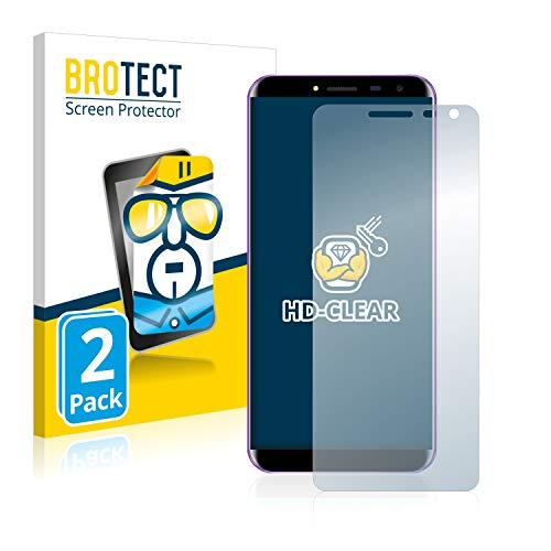 BROTECT Schutzfolie kompatibel mit Oukitel C8 (2 Stück) klare Bildschirmschutz-Folie