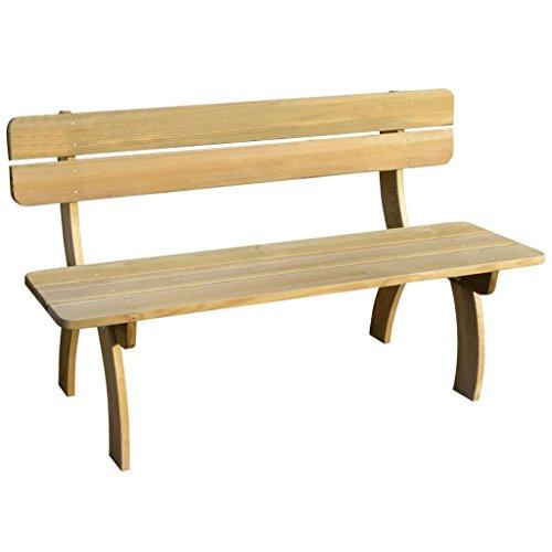 weilandeal Garden Bench imprägniert Pinewood Maße: 150x 60x 86cm (W x D x H) Outdoor Bänke Outdoor Bänke