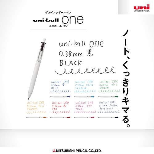 三菱鉛筆『ゲルインクボールペンユニボールワン0.38mm8色アソート』