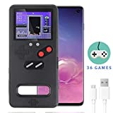 Dikkar Game Console Case for Galaxy, Retro Protective Cover Self-Powered Case,Color Display with 36 Small Game,Shockproof Video Game Case with USB Charging Cable for Samsung Galaxy S10/10+/Note10/10+