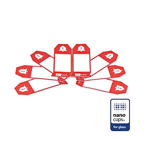 PATboard Scrum Board und Kanban Tafel - 8 IMPEDIMENTcards - Mit nanocups® für Glas