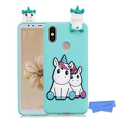 HopMore Funda para Xiaomi Mi A2 Lite Silicona Dibujo 3D Divertidas Panda Animal Carcasa TPU Ultrafina Case Slim Antigolpes Caso Protección Flexible Cover Design Gracioso - Unicornio Verde