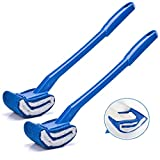 Marbrasse Toilet Brush, Curved Toilet Cleaner Brush for Bathroom, Scrubber Brush to Clean Under The Rim,Scratch-Free,Anti-Splashing, Deep Cleaning