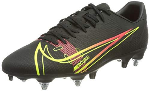 Nike Vapor 14 Academy SG-PRO AC, Scarpe da Calcio Unisex-Adulto, Black/Cyber-off Noir-Rage Green-Siren Red, 41 EU