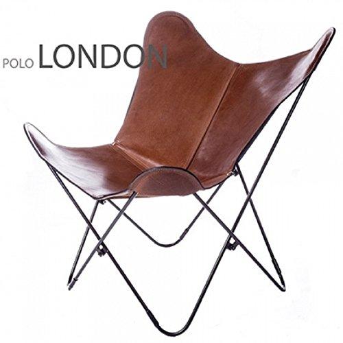 Butterfly Polo London - Sillón (piel sintética), color marrón