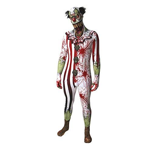 Morphsuits 5 pies 9 pulgadas - 6 pies 1 pulgada / 180 cm - 186 cm payaso asustadizo Orco mandbula cuentagotas Morphsuit Adulto Disfraz (X-Large) , color/modelo surtido