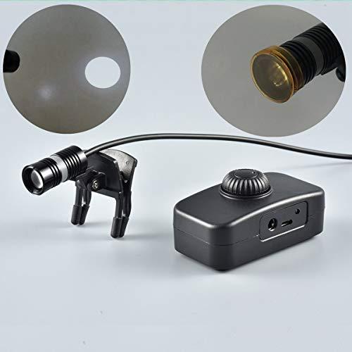 Songzi Optics SZ08B Adjustable Brightness Clip Surgical Dental Headlight Medical Headlamp Lightspot Orange Filter (Two Batteries)
