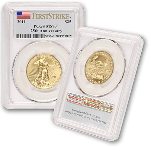 2011 1/2 oz Gold American Eagle MS-70 PCGS (First Strike) by CoinFolio $25 MS-70 PCGS