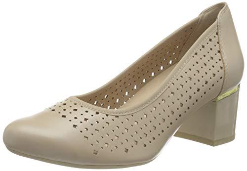 CAPRICE 9-9-22501-26, Zapatos de tacón con Punta Cerrada para Mujer, Beige Perlato, 42 EU Weit