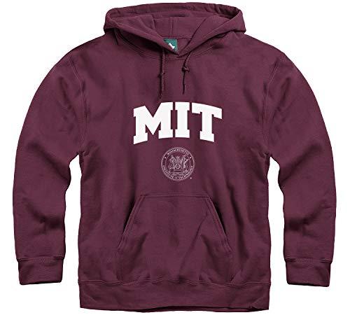 Ivysport MIT University Hooded Sweatshirt, Crest, Maroon, Medium