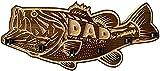 DLRBDMM Porte-barre de pêche en bois de grande bouche, grille de timbres de pêche murale créative, porte-tige de pêche en bois avec 6 tiges, équipement de pêche bricolage - pour montage mural de la po