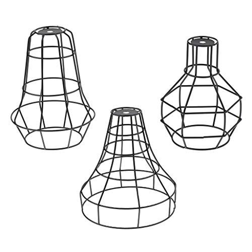 Sharplace - Lámpara de techo para pared, 3 unidades, estilo vintage