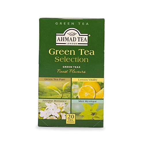 Ahmad Tea Green Tea Selection Grüner Tee 20 Teebeutel mit Band/Tagged, 40 g