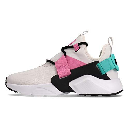 Nike Air Huarache City Basso Da Donna Scarpe Platinum Tint/Black/Hyper Jade ah6804-014, nero (Colore platino/Nero/Hyper Jade), 38 EU