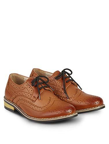 V.C. Festliche Jungen Anzug Schuhe braun (Numeric_35)