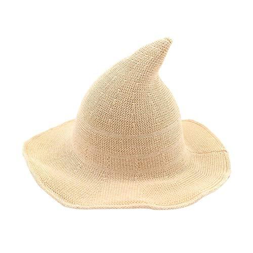 Jessicadaphne Hut weibliche koreanische Version des Hexenhutes Helm großer Hut Baumwollgarn Strick Hexenhut Hut Faltbarer Beckenhut Fischerhut