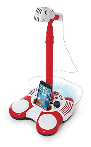 Kidoozie Sing Along Microphone Toy – Plays Music from Phone or MP3 Player