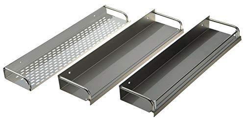 ONPIRA Edelstahl Küchenregal Gewürzregal in 3 Ausführung und in 10 Größen von 25-120cm zum auswählen insgesamt 30 Varianten (Modell C, 25cm)