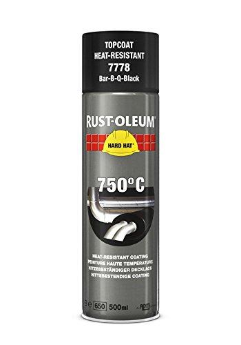 Rust-Oleum 7778 rigide Chapeau Aérosol résistant à la chaleur, pour des températures jusqu'à 750 degrés C, Noir