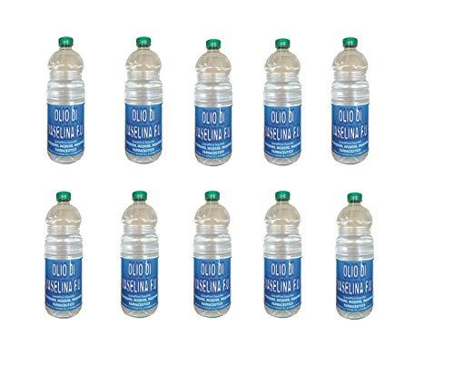 BOTTIGLIERI CASALINGHI Olio Enologico Olio di Vasellina F.U. Confezione Risparmio 10 Bottiglie da 1 litro cadauna