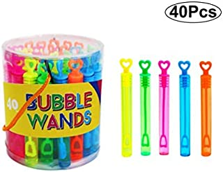 SKKSTATIONERY 40 Pcs Bubble Wands, Assortment Neon, Party Favors, Summer Gifts, Bubbles Fun Toys