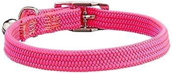 Collier Chat Elastique Rose Chrome 28CM