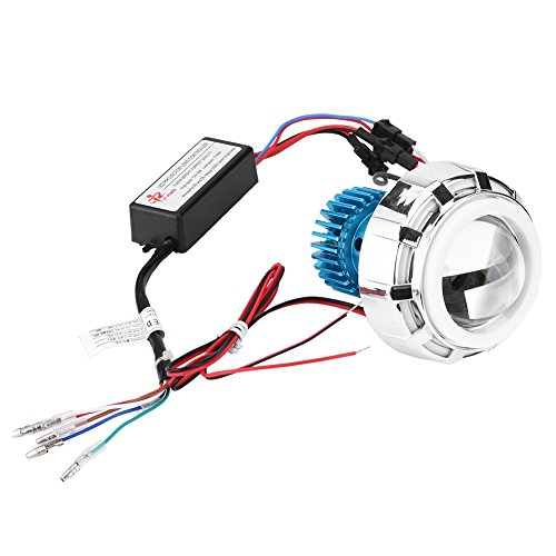 Famus Motorrad 12 V High Abblendlicht LED Scheinwerfer Projektor Objektiv Dual Angel Devil Eyes Scheinwerfer