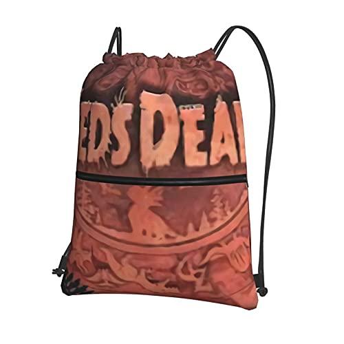 Zeds Dead - Mochila con cordón para natación, bolsa de polietileno, con cordón grande, para deportes, gimnasio, para mujeres, hombres, con bolsillos con cremallera, bolsa de viaje, para la playa