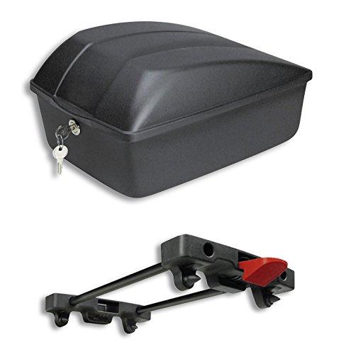 KLICKfix Fahrradbox 12L für Racktime Träger, schwarz, M, 0845R