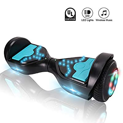 CXMScooter Hoverboard 6.5 inch Self-Balance Scooter with Wireless Speaker UL2272 Certified + Carrying Bag Handbag Included