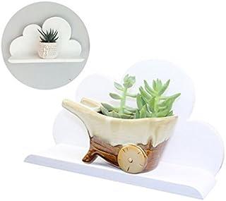 Ripiani cloud Forma nuvola di legno galleggiante mensola bianca scaffali galleggiante per montaggio a parete il tabellone Gruccia bagagli Rack Nursery Accessori