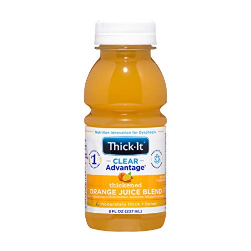 Thick-It Clear Advantage Thickened Orange Juice Blend - Moderately Thick/Honey, 8 oz Bottle (Pack of 24)