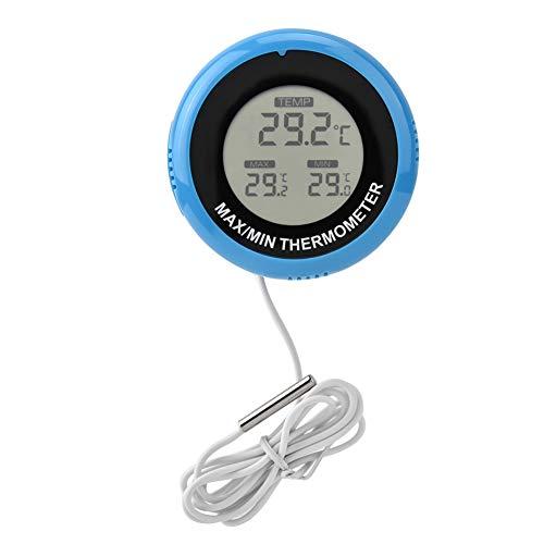 Pssopp Aquarium Thermometer Digital Reptile Terrarium Thermometer Temperaturanzeige LCD Aquarium Thermometer Aquarium Wasser Thermometer mit Tauchsonde